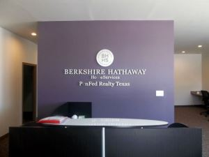 Stainless Steel Letters Reception Sign