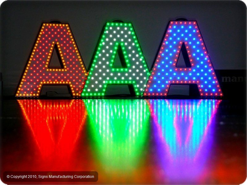 multi color letterlites channel letters