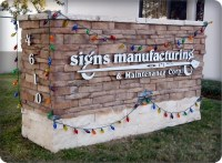 Stone Masonry Brick Signs