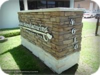 Faux Stone Monumebnt Sign with Raised Aluminum Lettering