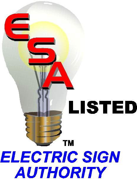 Electric Sign Authority Listing Label