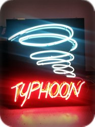 Typhoon Neon Interior Sign
