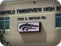 Timberview High School LED Sign