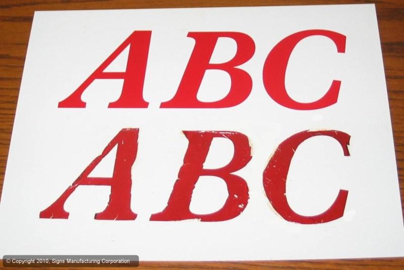 protected vinyl vs unprotected vinyl lettering