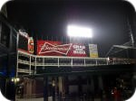 Budweiser sign at Ballpark in Arlington Texas
