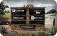 Lumin Health Decorative Stone Monument Signage Irving TX
