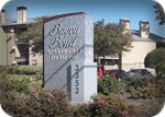 Bayou Bend sign, built by Hardman Signs and installed by Signs Manufacturing in Dallas, TX
