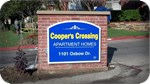 Coopers Crossing Brick and Lighted Sign Cabinet Monument