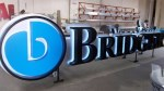 Bridger reverse lighted channel letters in Addison, TX