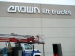 Crown Lift Trucks Reverse Channel Letters by Signs Manufacturing, Texas