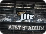 Miller Lite sign in AT&T Stadium Arlington Texas with the Dallas Cowboys