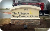 Arlington Sleep Disorders Monument Sign