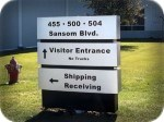 Sansom Directional Signs