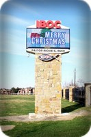 IBOC Christmas Message on Electronic Sign