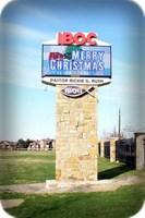 IBOC Christmas Message on Electronic Sign