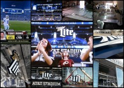 Miller Lite sign at AT&T Stadium, Dallas Cowboys, Arlington, Texas