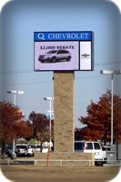 Q Chevrolet LED Pylon Sign