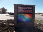 Stonebrook Storage Brick and Programmable LED Monument Sign, Frisco, TX
