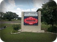 That Church of the Assemblies of God Digital Programmable LED Message Center Monument Signage