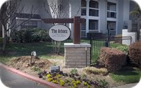 The Arbors Wood and Stone Decorative Entry Sign