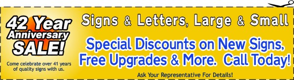 Channel Letter Discount Coupon